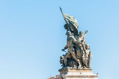 National Monument to Victor Emmanuel in Rome, Italy. Royalty Free Stock Images