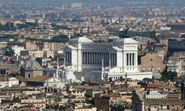 National monument to Vittorio Emanuele II called Vittoriano Stock Photos