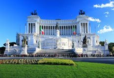 National monument to Vittorio Emanuele II Stock Photography