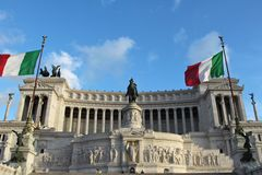 National Monument of Victor Emmanuel II Royalty Free Stock Images