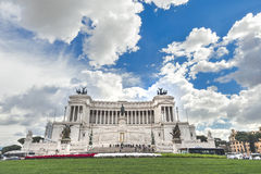National Monument of Victor Emmanuel II. Rome Royalty Free Stock Images