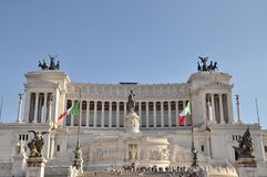 National Monument of Victor Emmanuel II. in Rome Stock Photos