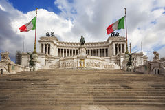 National Monument of Victor Emmanuel II. Rome. Stock Photo