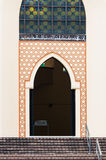 National Mosque of Malaysia. A doorway in the traditional Islamic style at the National Mosque of Malaysia in Kuala Lumpur Royalty Free Stock Image
