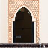 National Mosque of Malaysia. A doorway in the traditional Islamic style at the National Mosque of Malaysia in Kuala Lumpur Stock Image