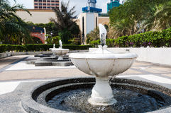 National Mosque of Malaysia. Fountains outside of the National Mosque of Malaysia in Kuala Lumpur Stock Photos