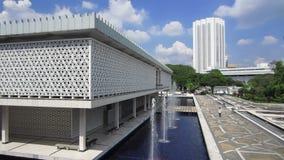 The National Mosque of Malaysia, Kuala Lumpur Masjid Negara, circa January 2017 stock video footage