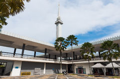 National Mosque of Malaysia. The minaret of the National Mosque of Malaysia in Kuala Lumpur Royalty Free Stock Photography