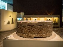 The National Museum of Anthropology, ancient Aztec Mayan artifacts. Mexico City, Central America, January 2018 [ The National Museum of Anthropology, ancient Royalty Free Stock Images