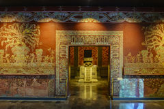 National Museum of Anthropology (Museo Nacional de Antropologia, MNA). Mexico City, FEB 16: Interior of the National Museum of Anthropology (Museo Nacional de royalty free stock image