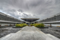 National Museum of Anthropology Plaza Royalty Free Stock Photography