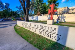 National Museum of Anthropology signboard near Rizal park in Met. Manila, Philippines - Feb 4, 2018 : Signboard of Manila, Philippines - Feb 4, 2018 : National Royalty Free Stock Photography