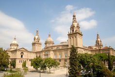 National Museum of Art in Barcelona Stock Images