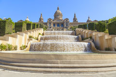 National museum of art in barcelona Royalty Free Stock Image