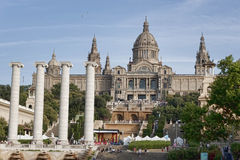 National Museum of Art of Catalonia in Barcelona Stock Photos
