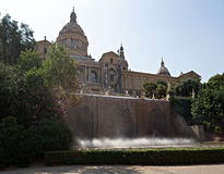National museum of art of Catalonia - MNAC - in Barcelona Royalty Free Stock Photos