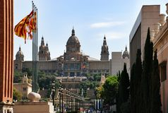 National museum of art of Catalonia MNAC, Barcelona Spain Royalty Free Stock Photos