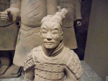 National Museum of Art, Osaka, Japan. The Great Terracotta Army of China`s First Emperor. July 5 - October 2, 2016. Soldiers in clay. Photo: 3 September 2016 stock photos