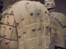 National Museum of Art, Osaka, Japan. The Great Terracotta Army of China`s First Emperor. July 5 - October 2, 2016. Soldiers in clay. Photo: 3 September 2016 stock images