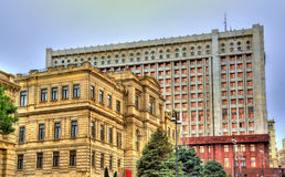 National Museum of Art and Presidential Administration in Baku Royalty Free Stock Images