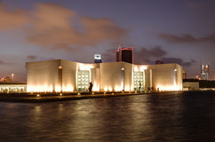 National Museum of Bahrain at night Royalty Free Stock Image