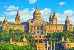 National Museum in Barcelona Museu Nacional d Art de Catalunya stock images