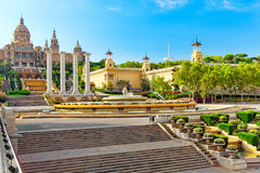 National Museum in Barcelona. Royalty Free Stock Photos