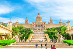 National Museum in Barcelona Placa De Espanya, Spain. Royalty Free Stock Photos