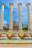 National Museum in Barcelona, Placa De Espanya Royalty Free Stock Images