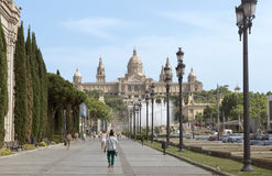 National Museum in Barcelona Royalty Free Stock Images