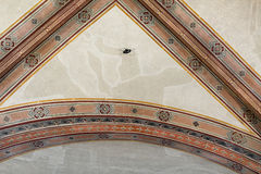 National Museum of Bargello. Florence, Italy-June 12, 2015. Interior detail view of sections of the ceiling artworks in one of the galleries of the National Stock Photo