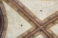 National Museum of Bargello. Florence, Italy-June 12, 2015. Interior detail view of sections of the ceiling artworks in one of the galleries of the National Stock Image