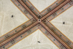 National Museum of Bargello. Florence, Italy-June 12, 2015. Interior detail view of sections of the ceiling artworks in one of the galleries of the National Stock Photography
