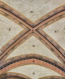 National Museum of Bargello. Florence, Italy-June 12, 2015. Interior detail view of sections of the ceiling artworks in one of the galleries of the National Royalty Free Stock Photography