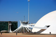 The National Museum  brasilia goias brazil Royalty Free Stock Photos
