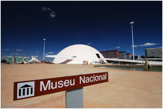 National Museum of Brazil. The unusual structural shape of the National Museum of Brazil was designed by Oscar Niemeyer, a Brazilian architect Stock Images