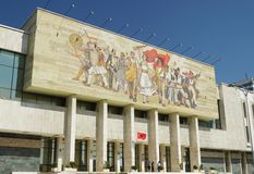 National Museum Building, Mosaic, Tirana, Albania Royalty Free Stock Images