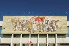 National Museum Building, Mosaic, Tirana, Albania Stock Image
