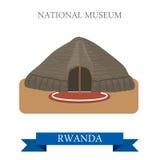 National Museum in Butare in Rwanda. Flat vector i Royalty Free Stock Photos