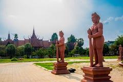 The National Museum of Cambodia (Sala Rachana) and sculpture.Phnom Penh. Stock Image