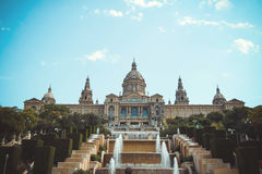 National Museum of Catalan Art (MNAC) in Barcelona Royalty Free Stock Image