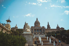 National Museum of Catalan Art (MNAC) in Barcelona Royalty Free Stock Photos