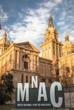 National Museum of Catalan Art MNAC on Plaza Espanya in Barcelona.  stock photography