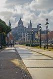 National Museum of Catalan Art MNAC on Plaza Espanya in Barcelona.  royalty free stock photos