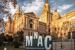 National Museum of Catalan Art MNAC on Plaza Espanya in Barcelona.  royalty free stock image