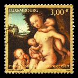 National Museum of History and Art, Museums serie, circa 2004. MOSCOW, RUSSIA - AUGUST 18, 2018: A stamp printed in Luxembourg shows National Museum of History stock photography