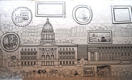 National Museum Illustration Royalty Free Stock Photography