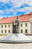 National Museum of Lithuania, monument to King Mindaugas and Tower of Gediminas, Vilnius. National Museum of Lithuania, a monument to King Mindaugas and Tower of stock image
