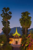 National museum of Luang Prabang in early morning Royalty Free Stock Photo