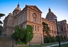 National museum in Montjuic, Barcelona Stock Photos
